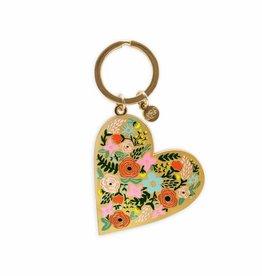 Rifle Paper Co. Floral Heart Enamel Keychain