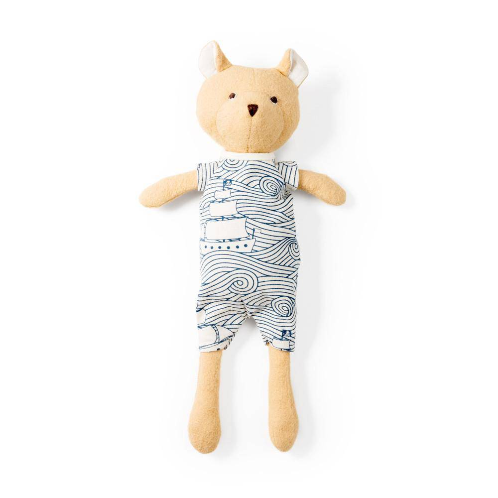 Hazel Village HVTO - Nicholas Bear Cub in High Seas Romper