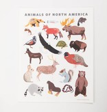 Small Adventure Animals of North America Art Print