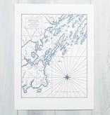 quail lane press Portland Maine Letterpress Map Print