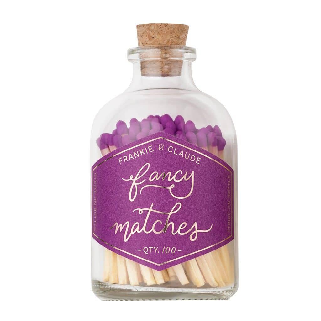Frankie & Claude Violet Matchstick Jar