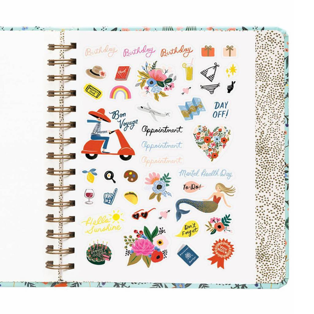 Rifle Paper Co. 2019 Wildwood Covered Spiral 17-Month Agenda