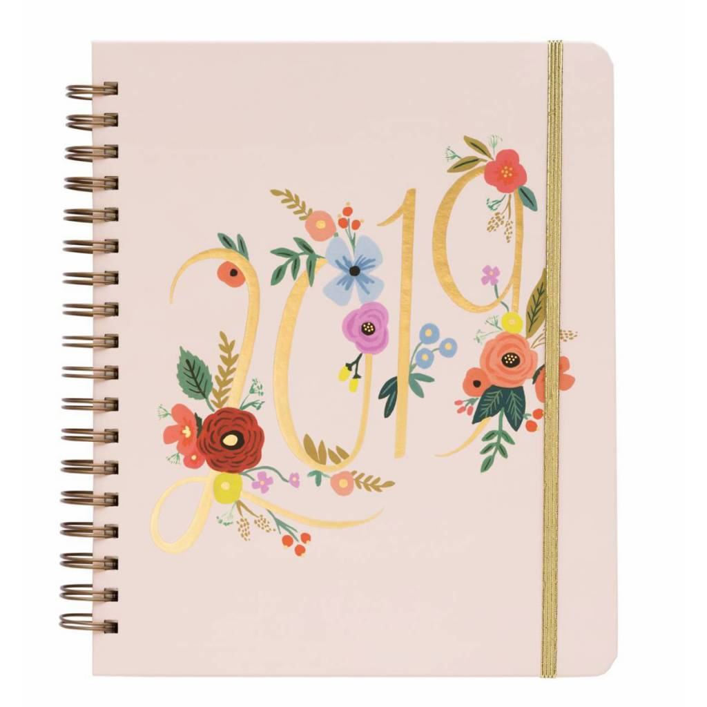 Rifle Paper Co. 2019 Bouquet Spiral 17-Month Agenda