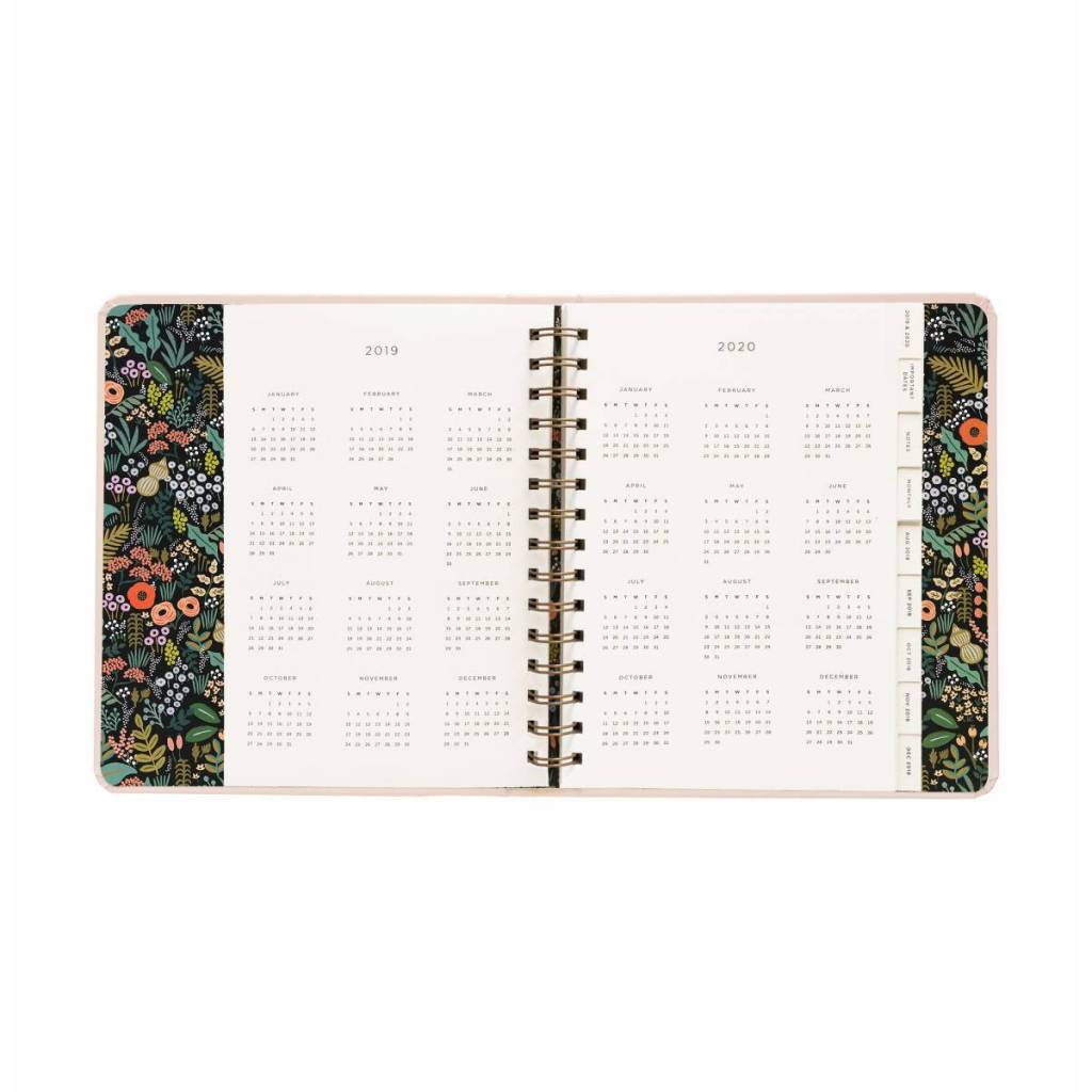 Rifle Paper Co. 2019 Bouquet Covered Spiral 17-Month Agenda
