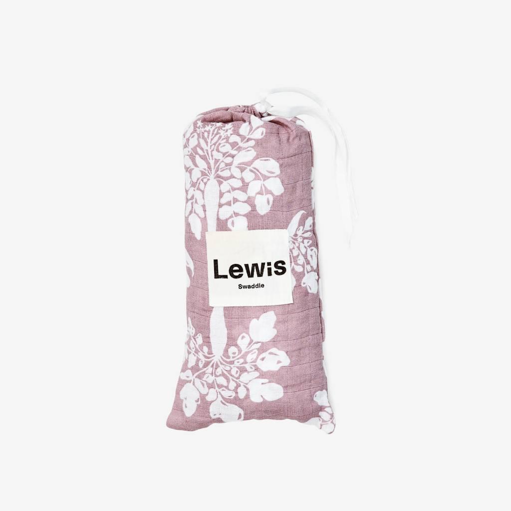 Lewis Home Inverse Parsnip Mauve Organic Swaddle