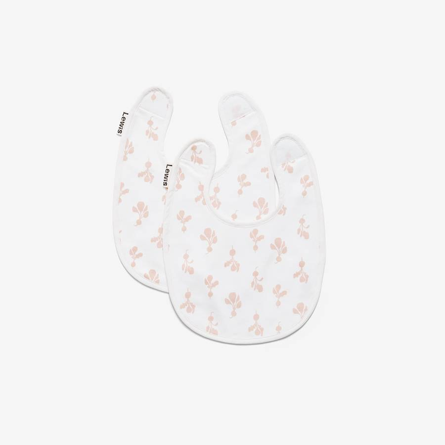 Lewis Home Mini Radish Blush Bib Set