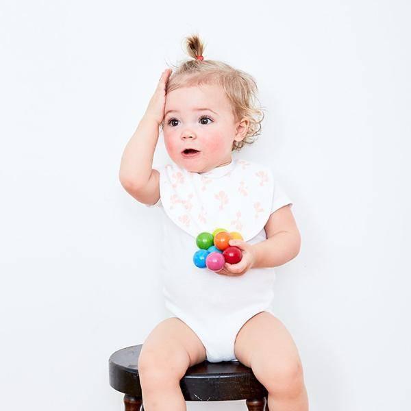 Lewis Home Mini Radish Blush Bib Set
