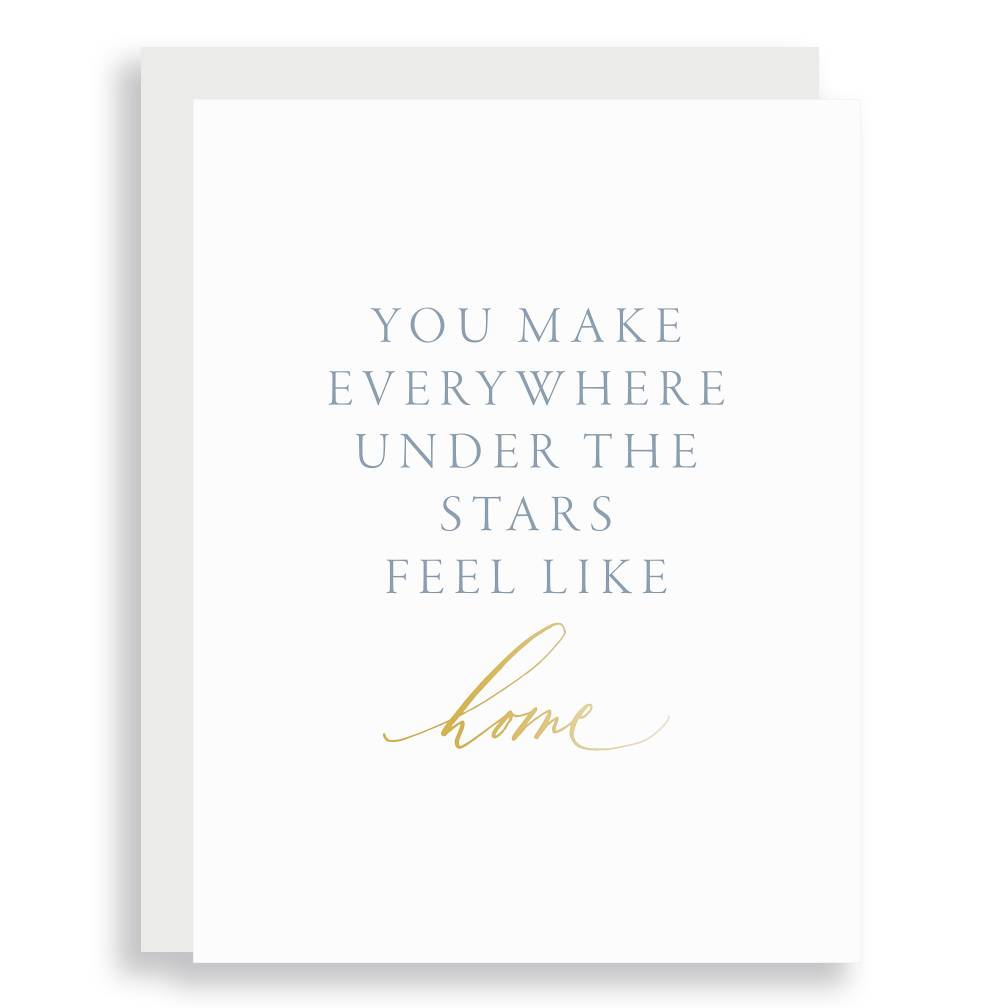 Little Well Paper Co. Under the Stars Home Greeting Card
