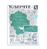 "Brainstorm Print and Design Yosemite Map Screen Print 18""x24"""