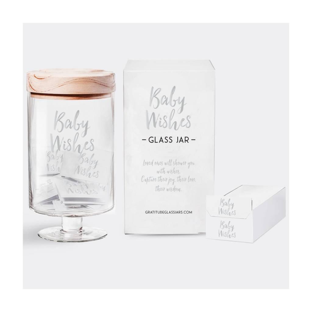 Gratitude Glass Jars GGJBG - Baby Wishes Glass Jar