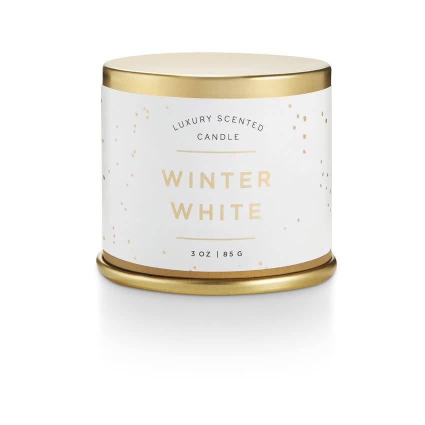 illume candles ILLCASM - Noble Holiday Winter White Demi Tin Candle