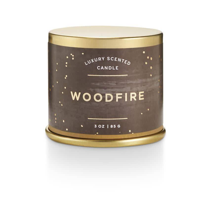 illume candles ILLCASM - Noble Holiday Woodfire Demi Tin Candle