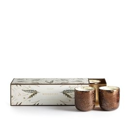 illume candles ILLCAVO - Woodfire Mercury Glass Votives  -  3 pack