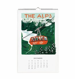 Rifle Paper Co. RPCAWA - 2019 World Traveler Wall Calendar
