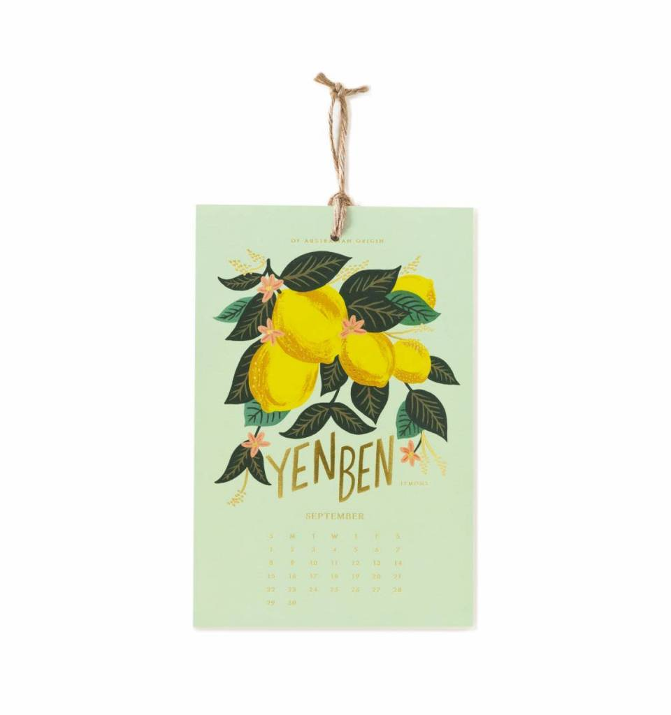 Rifle Paper Co. RPCAWA - 2019 Lemon Wall Calendar
