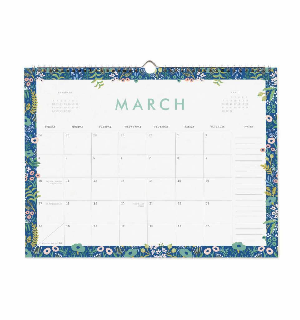 Rifle Paper Co. RPCAWA - 2019 Garden Party Appointment Calendar