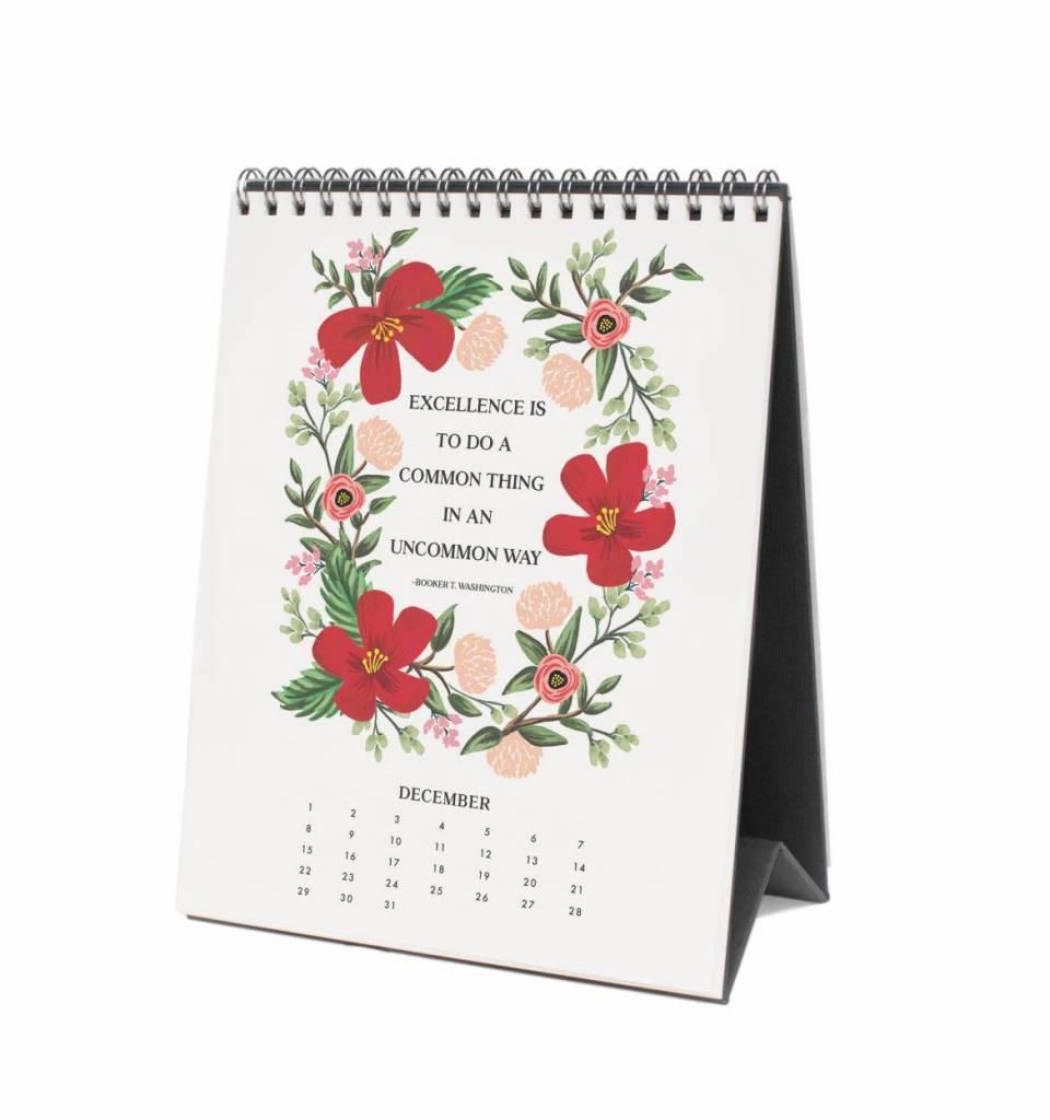 Rifle Paper Co. RPCADE - 2019 Inspirational Desk Calendar