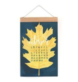 one canoe two letterpress 2019 Refill Saturday Afternoons Oversized Wall Calendar