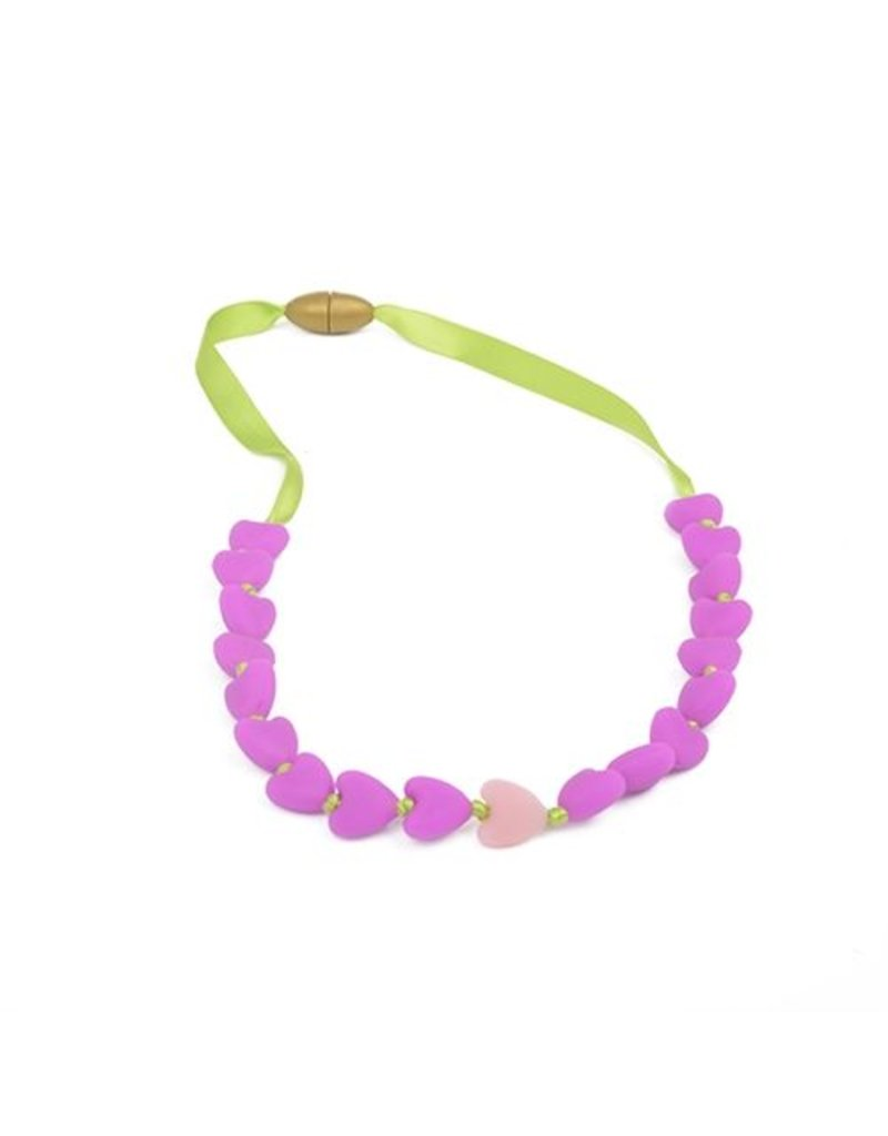 Kids Chewing Heart Necklace