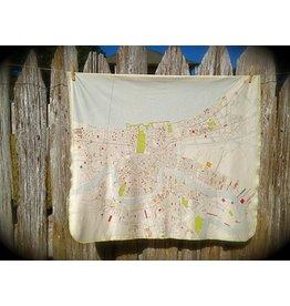 Ellen Macomber Organic New Orleans Map Blanket