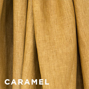 Sakura Bloom Chambray Linen Caramel