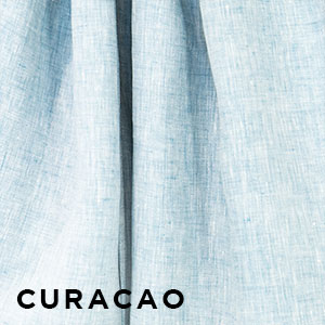 Sakura Bloom Chambray Linen Curacao