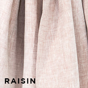 Sakura Bloom Chambray Linen Raisin