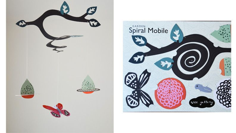 Wee Gallery Garden Spiral Mobile