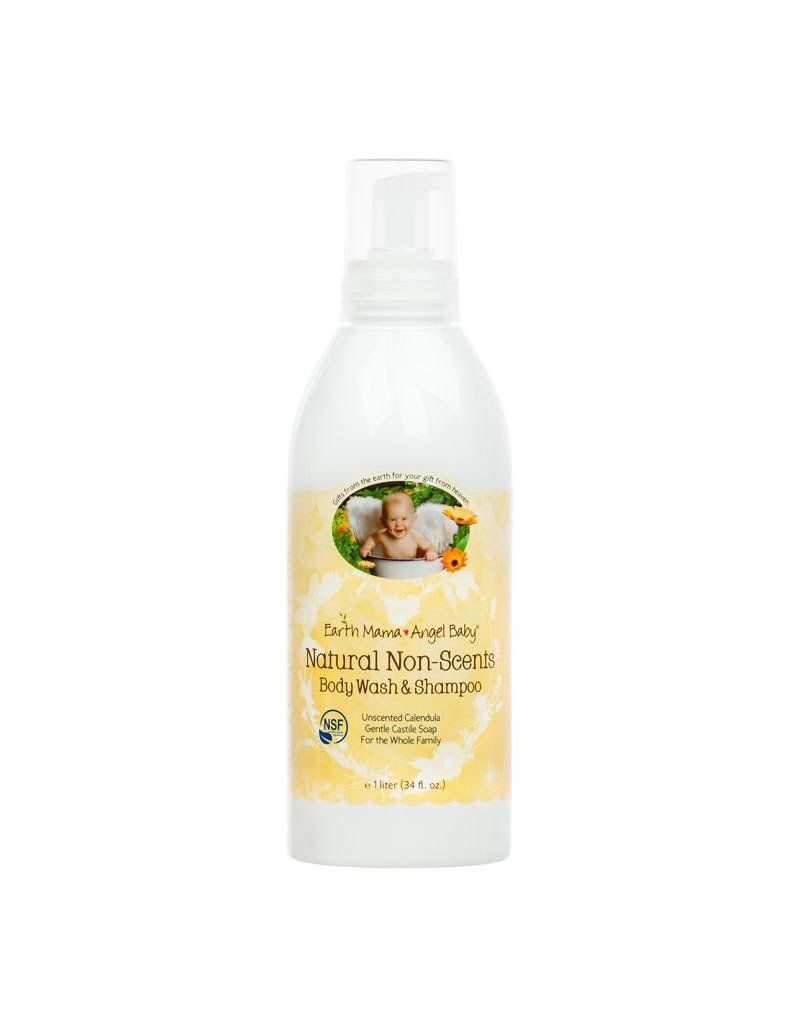 Earth Mama Angel Baby Natural Non-Scents Body Wash and Shampoo