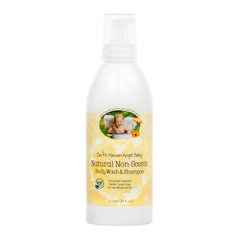 Earth Mama Angel Baby Natural Non-Scents Body Wash and Shampoo