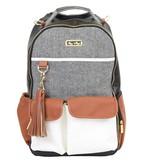 Itzy Ritzy Itzy Ritzy Diaper Bag Backpack in Coffee & Cream