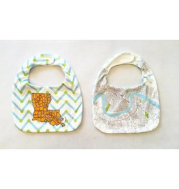 Organic NOLA Map Reversible Bib