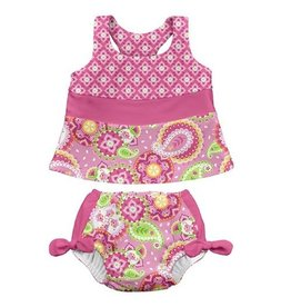 i play. Two Piece Bow Tankini with Swim Diaper
