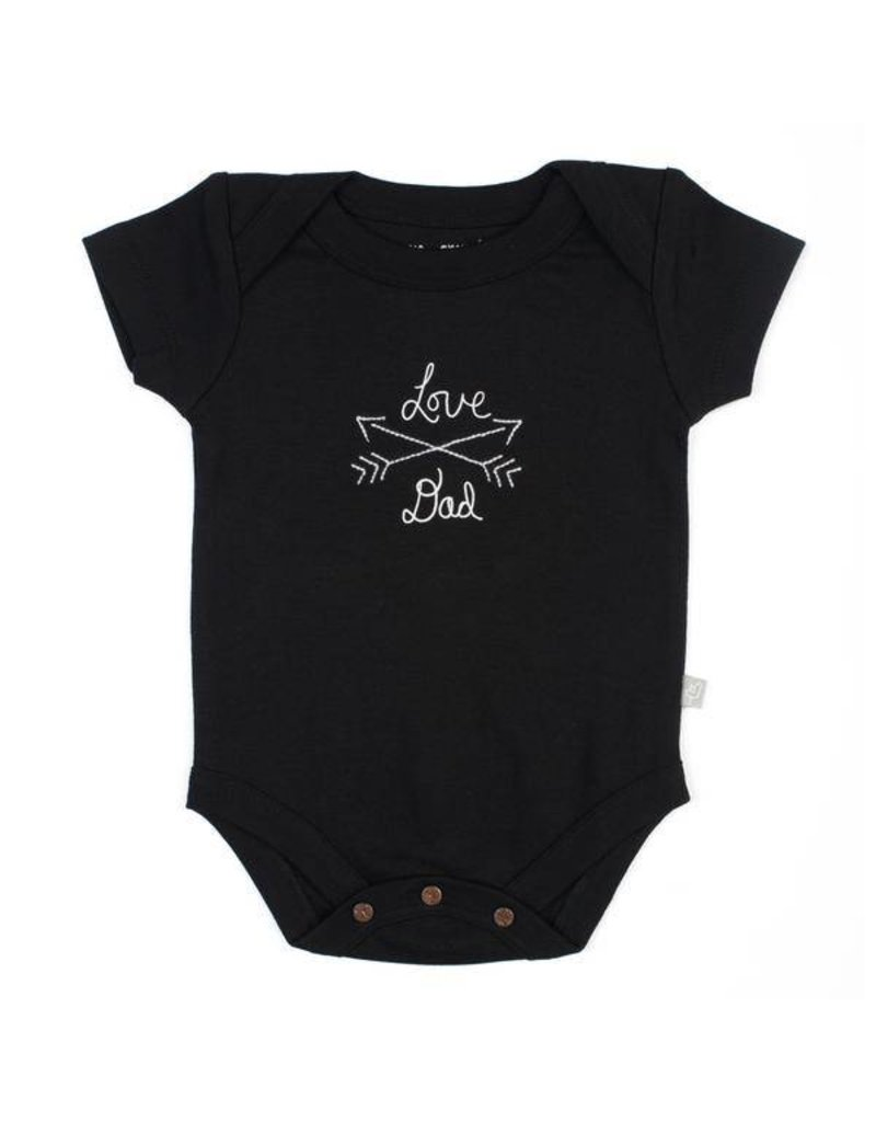Finn + Emma Love Mom/Love Dad Organic Onesie