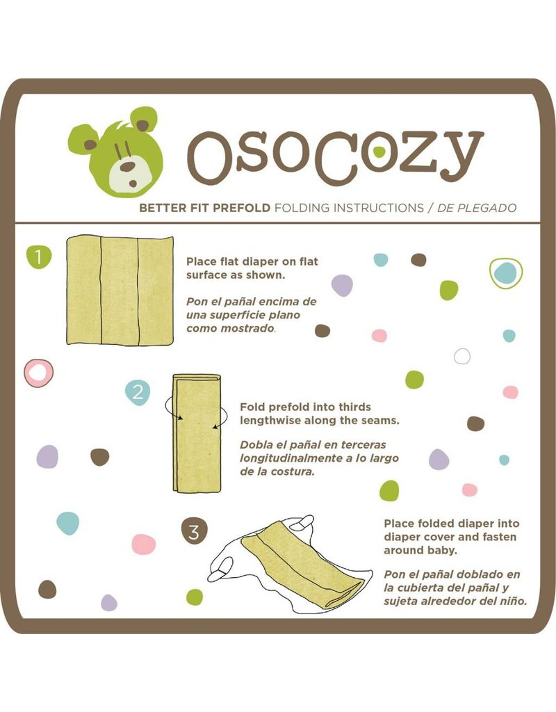 OsoCozy OsoCozy Better Fit Unbleached Prefolds