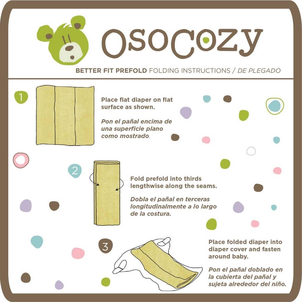 OsoCozy OsoCozy Better Fit Unbleached Prefolds