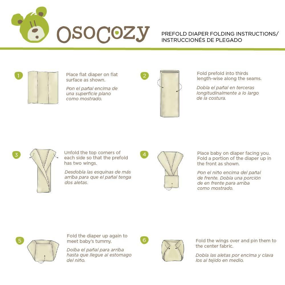 OsoCozy OsoCozy Bleached Cotton Prefold