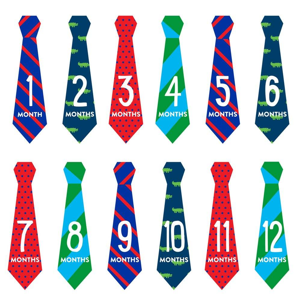 Pearhead Felt Tie First Year Stickers