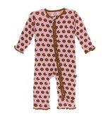 KicKee Pants Kickee Pants Ruffle Zipper Coverall - Lotus Cookies