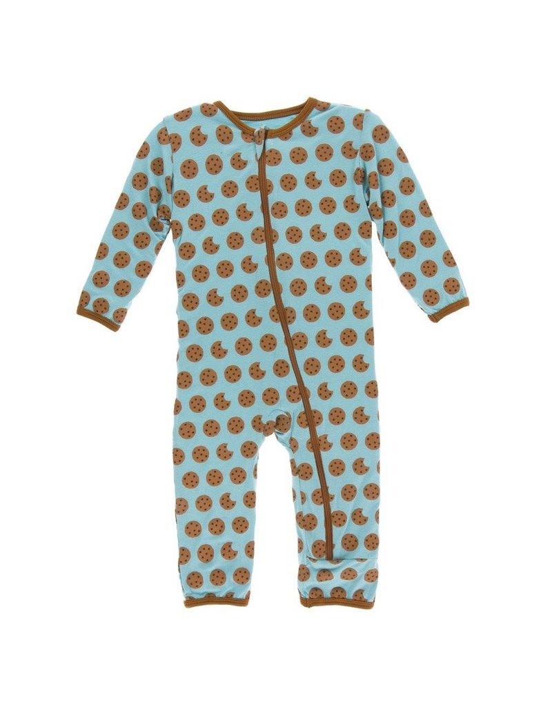 KicKee Pants KicKee Pants Zipper Coverall - Glacier Cookie
