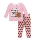 KicKee Pants KicKee Pants Long Sleeve PJ Set - Lotus Cookies