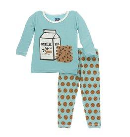 KicKee Pants KicKee Pants Long Sleeve Pajama Set - Glacier Cookie