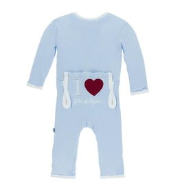 KicKee Pants KicKee Pants Coverall - I Love Grandpa (Pond)