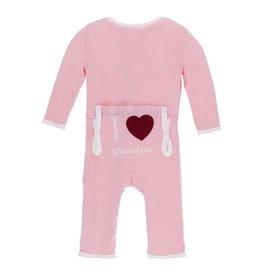 KicKee Pants KicKee Pants Coverall - I Love Grandpa (Lotus)