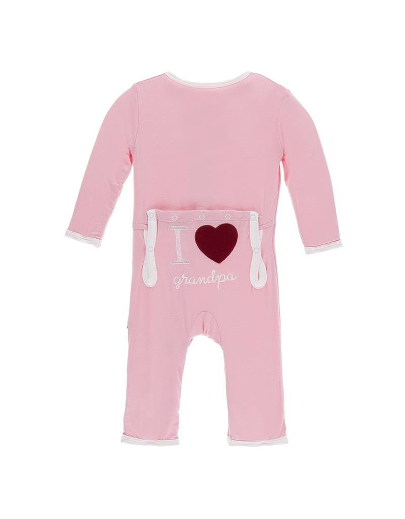 KicKee Pants KicKee Pants Layette Applique Coverall - I Love Grandpa (Lotus)