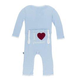 KicKee Pants KicKee Pants Coverall - I Love Grandma (Pond)