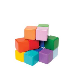 Manhattan Toys Wooden Multi-Colored Baby Cubes