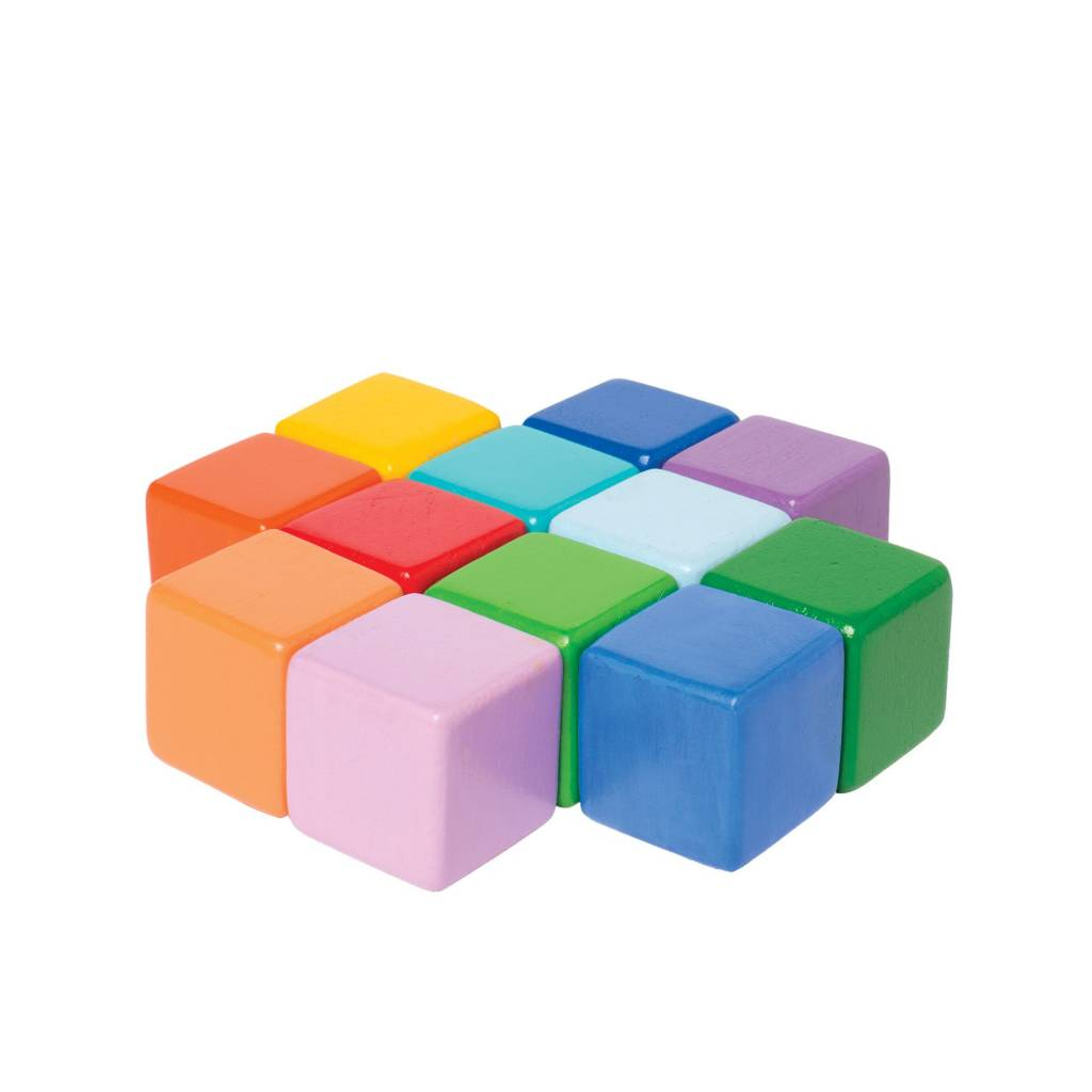 Manhattan Toys Wooden Multi-Colored Baby Cube Toy