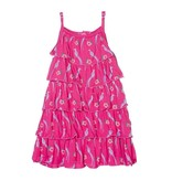 KicKee Pants Print Tiered Ruffle Dress