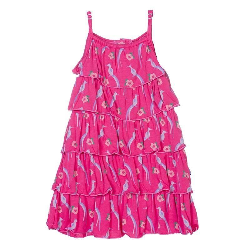 KicKee Pants KicKee Pants Print Tiered Ruffle Dress
